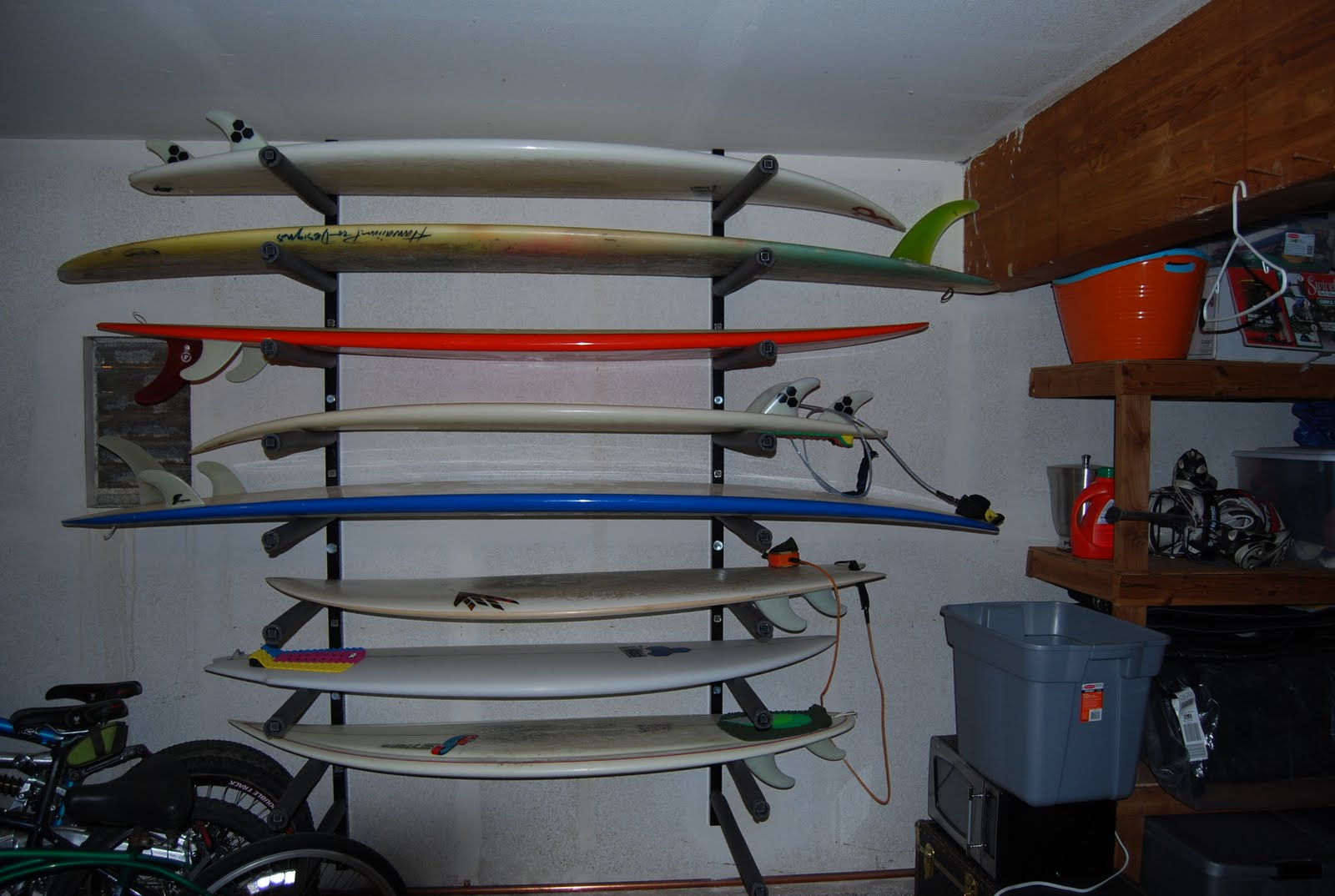 Garage Surf Rack Plans By October 2009 Eastsideswell Surfboard Racks For  Garage A73